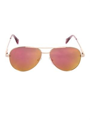 Mirrored Aviator-style sunglasses