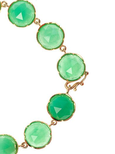 Irene Neuwirth Chrysopase & yellow-gold bracelet