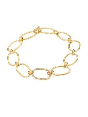 White-diamond & yellow-gold bracelet