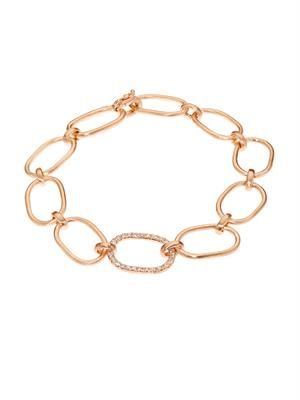 White-diamond & rose-gold bracelet