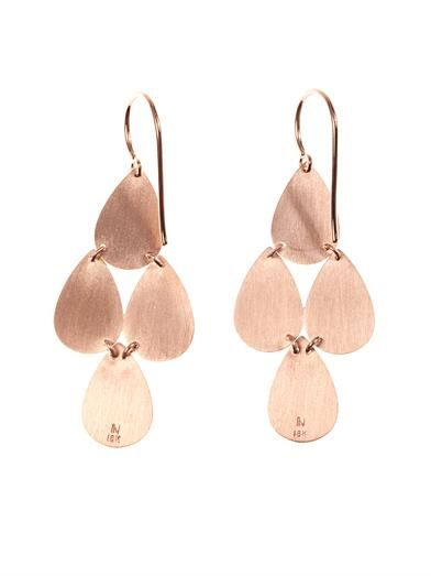 Irene Neuwirth Rose-gold chandelier earrings