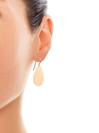 Irene Neuwirth Teardrop-shaped rose-gold earrings