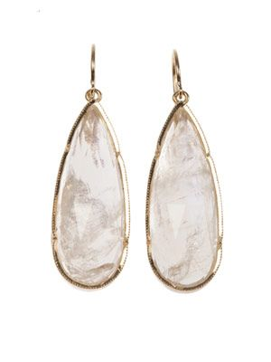 Moonstone & yellow-gold earrings