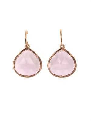 Rose de France & rose gold earrings