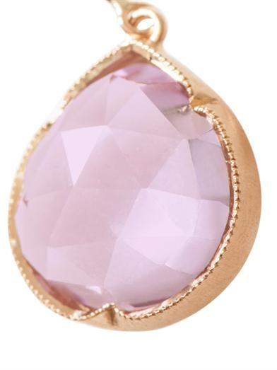 Irene Neuwirth Rose de France & rose gold earrings