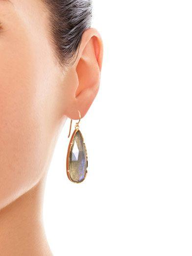 Irene Neuwirth Labradorite & rose-gold earrings