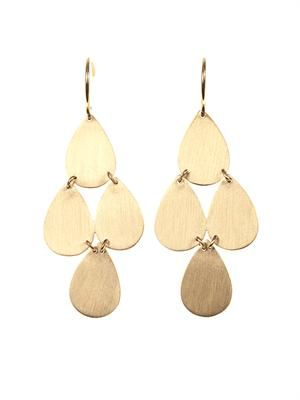 Yellow-gold chandelier earrings