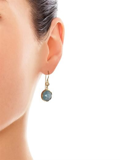Irene Neuwirth Diamond, aquamarine & gold earrings