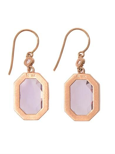 Irene Neuwirth Diamond, Rose de France & gold earrings