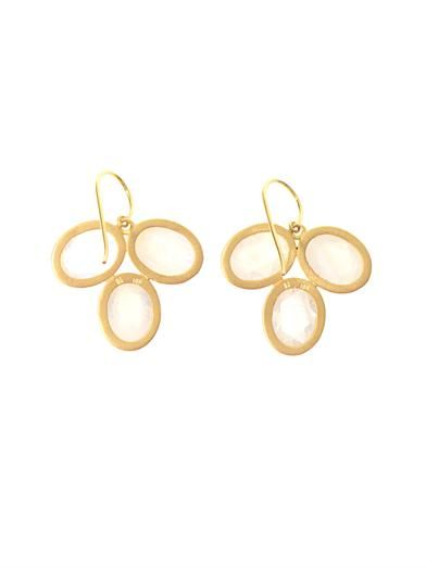 Irene Neuwirth Moonstone & yellow-gold earrings