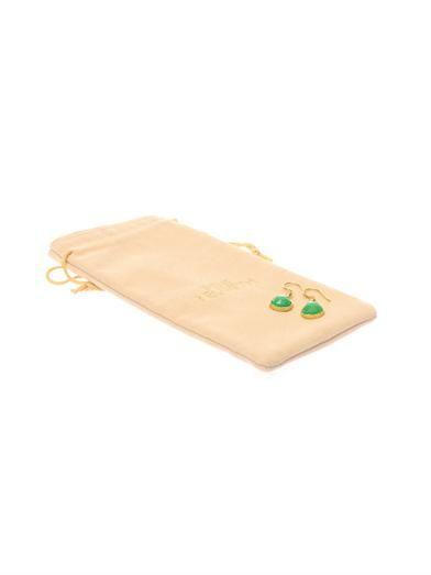 Irene Neuwirth Diamond, chrysophase & gold earrings