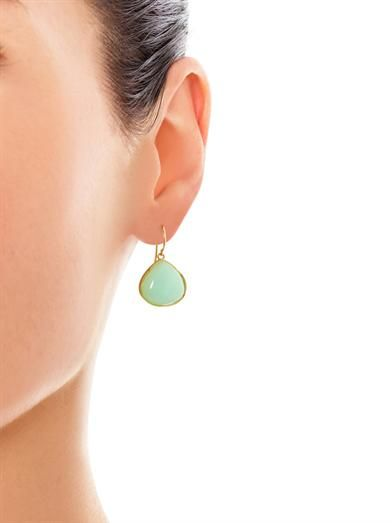 Irene Neuwirth Chrysoprase and yellow-gold earrings