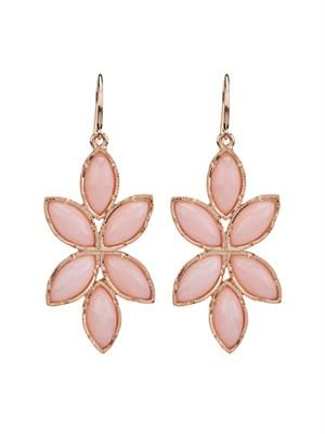 Pink-opal & rose-gold earrings