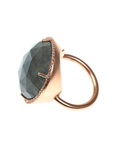 Irene Neuwirth Diamond, labradorite & rose-gold ring