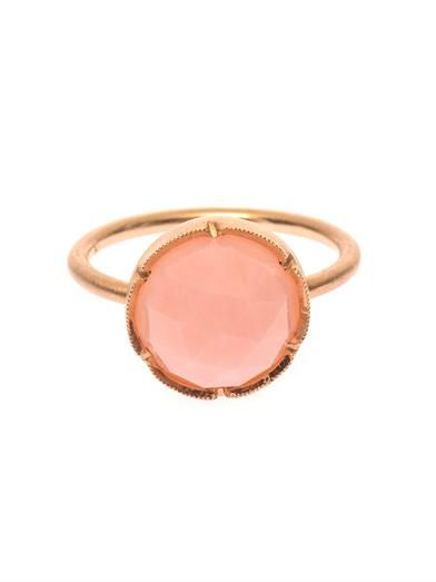 Irene Neuwirth Pink-opal and rose-gold ring