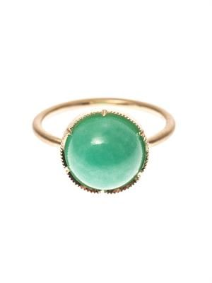 Chrysoprase & gold ring