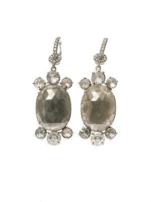 Diamond & white-gold earrings