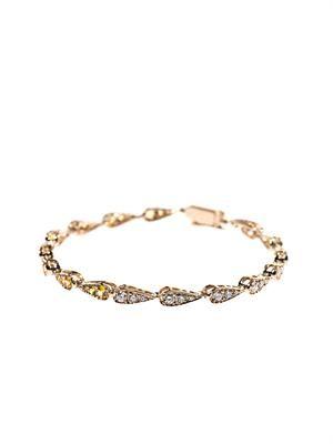 Diamond, yellow-sapphire & gold bracelet