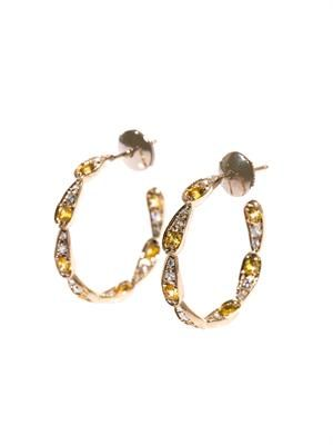 Diamond, yellow-sapphire & gold earrings