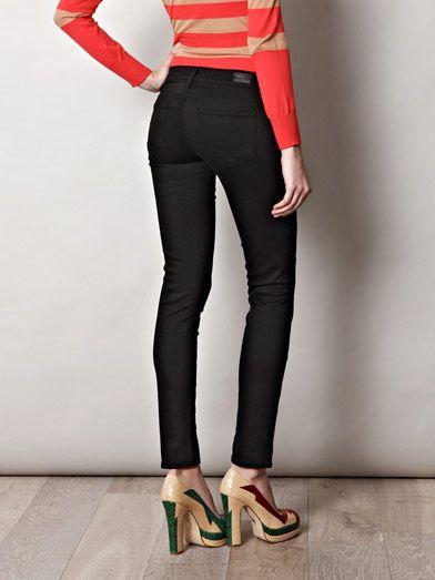 Paige Denim Skyline mid-rise cropped skinny jeans
