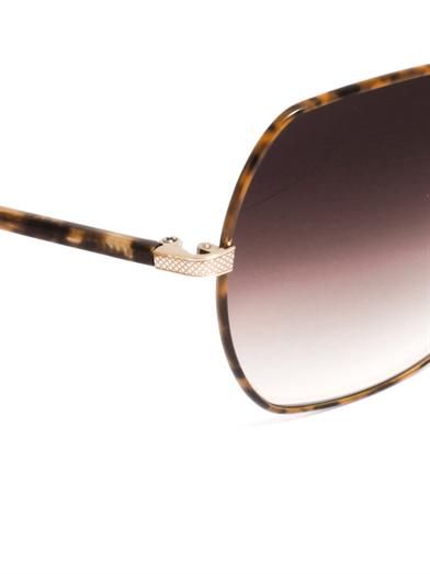 Barton Perreira Yadielle square frame sunglasses