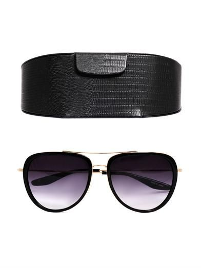 Barton Perreira Rio acetate and metal sunglasses