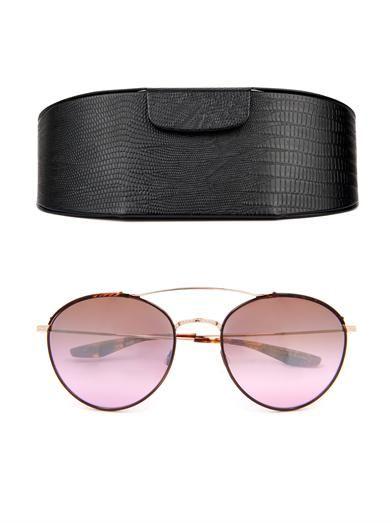 Barton Perreira Gamine round-framed sunglasses