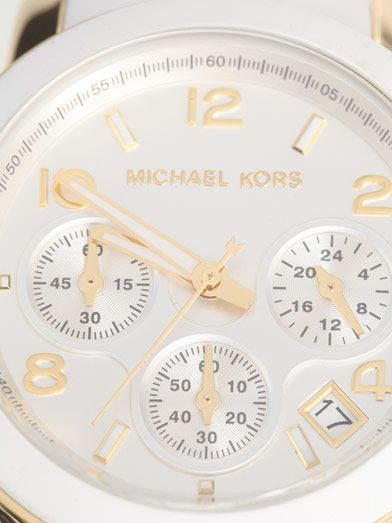 Michael Kors Watches Rubber-strap triple chronograph watch