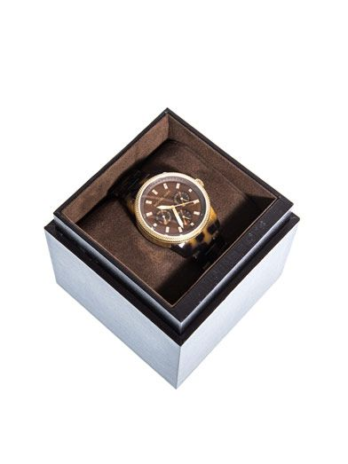 Michael Kors Watches Tortoiseshell triple chronograph watch