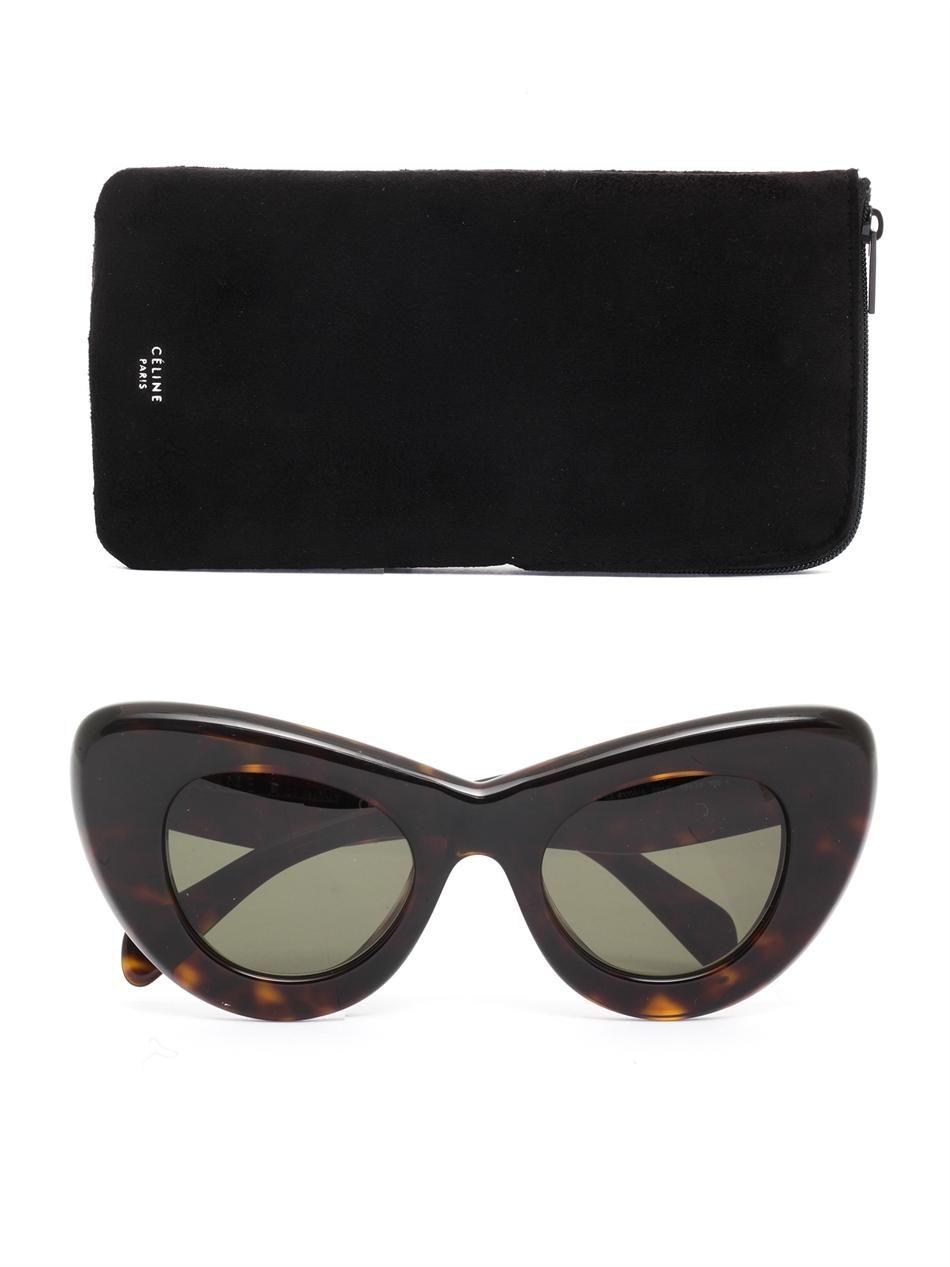 8dcd891783 Papillon tortoiseshell sunglasses Céline Sunglasses MATCHE on PopScreen