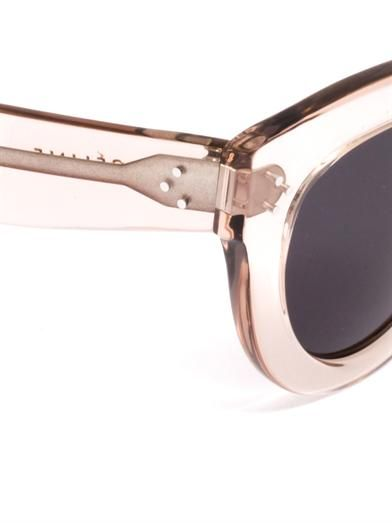 Céline Sunglasses Transparent cat-eye sunglasses