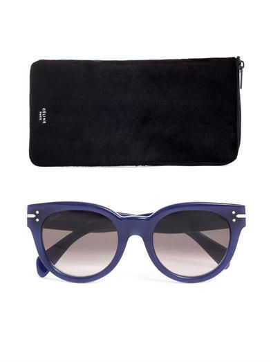 Céline Sunglasses Round acetate sunglasses