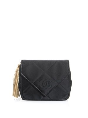 Quilted fabric clutch