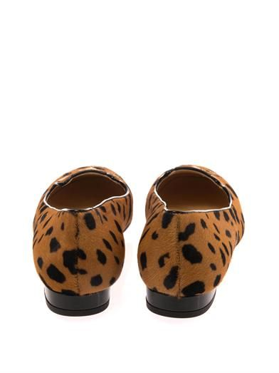 Charlotte Olympia Leopard Kitty slippers