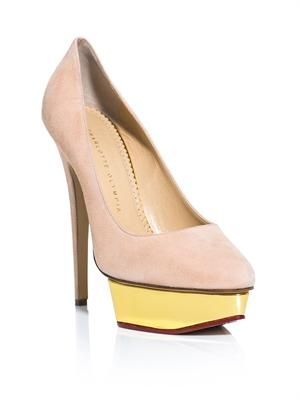 Cindy suede platform high heel shoes