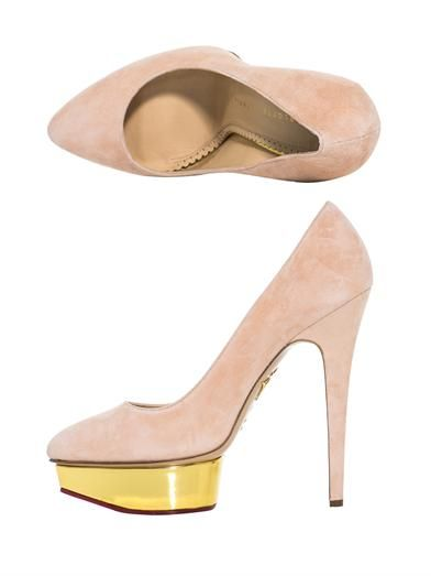 Charlotte Olympia Cindy suede pumps
