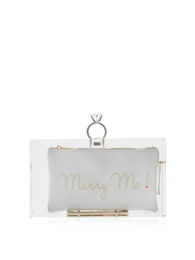 Charlotte Olympia Pandora Marry Me clutch