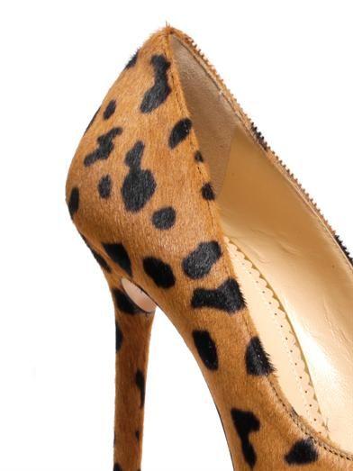 Charlotte Olympia Monroe animal-print calf-hair pumps