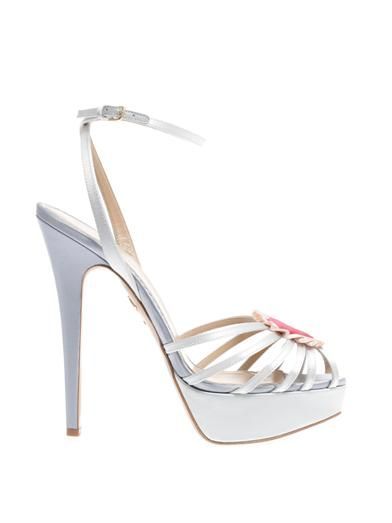 Charlotte Olympia Forever satin sandals