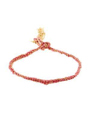 Gold & silk braided Lucky bracelet