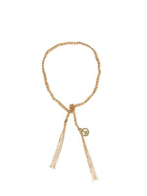 Yellow gold peace bracelet