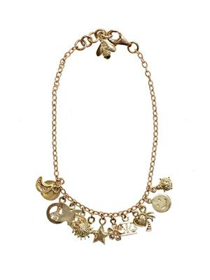 Yellow gold Lucky charms bracelet
