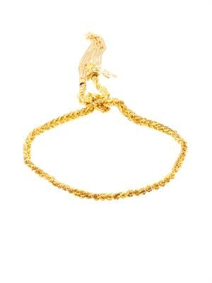 Gold and silk braided Lucky bracelet