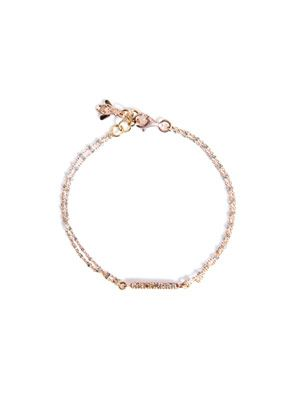 Diamond and pink gold bracelet