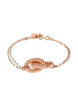Pink-gold sparkly double-link bracelet
