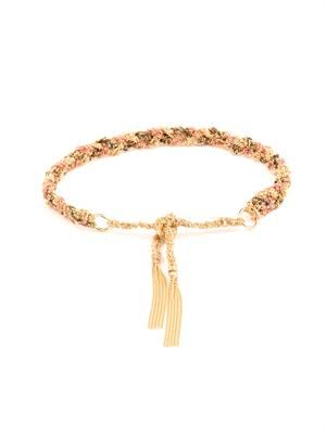 Silk & yellow-gold braided Lucky bracelet