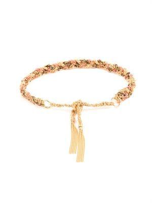 Silk & yellow-gold braided Lucky bracelet