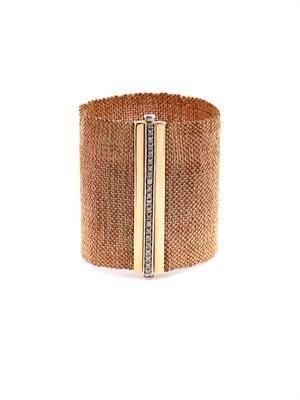 Diamond & gold woven bracelet