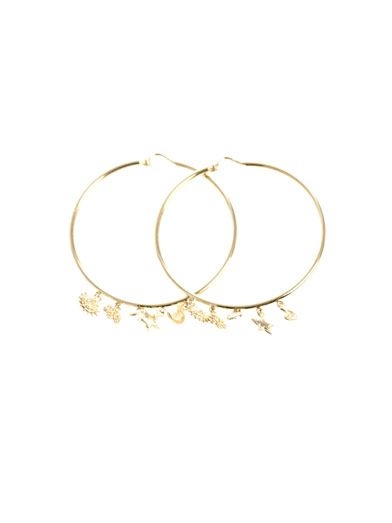 Carolina Bucci Yellow gold lucky charms earrings