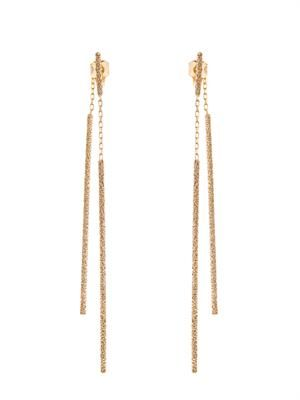 Gold sparkly double Magic Wand earrings